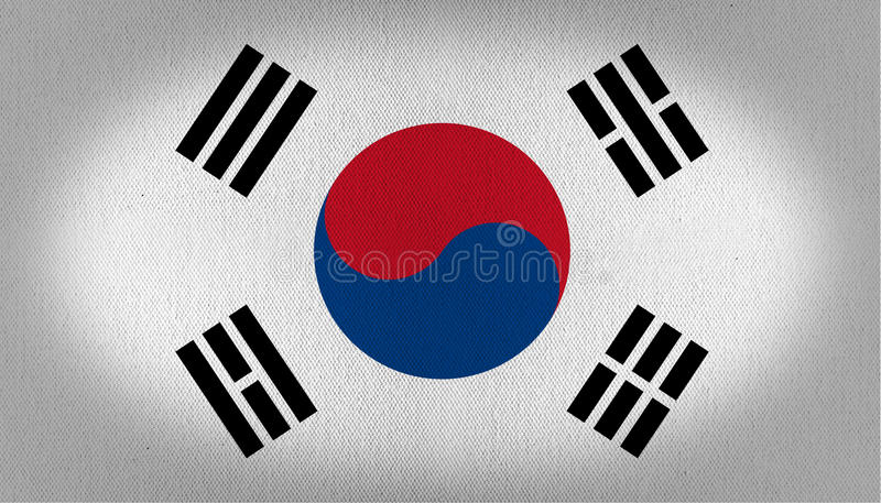 Sydkorea flagga royaltyfri illustrationer