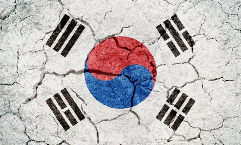 Sydkorea flagga stock illustrationer