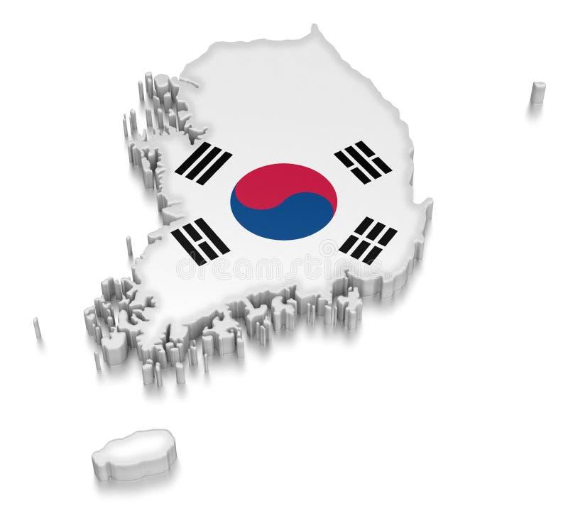 Sydkorea (inklusive snabb bana) royaltyfri illustrationer