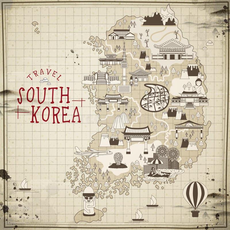 Sydkorea loppöversikt vektor illustrationer