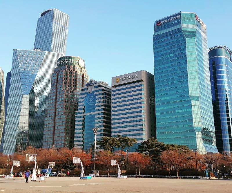 Sydkoreayeoidoen parkerar fotografering för bildbyråer
