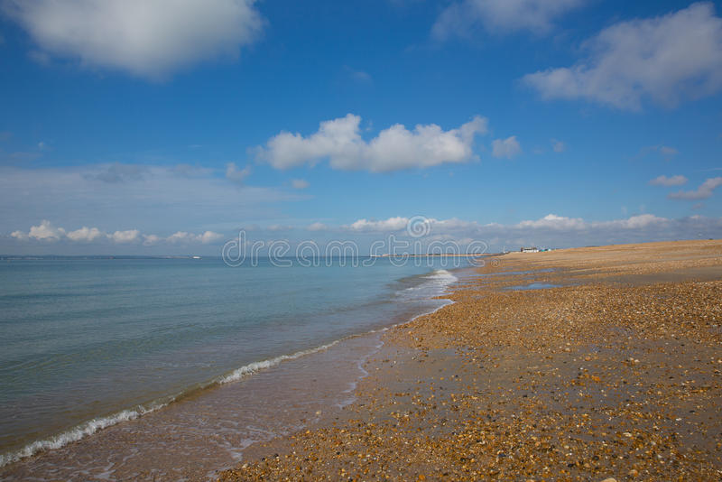 Sydkust för Hayling östrand av England UK royaltyfri bild