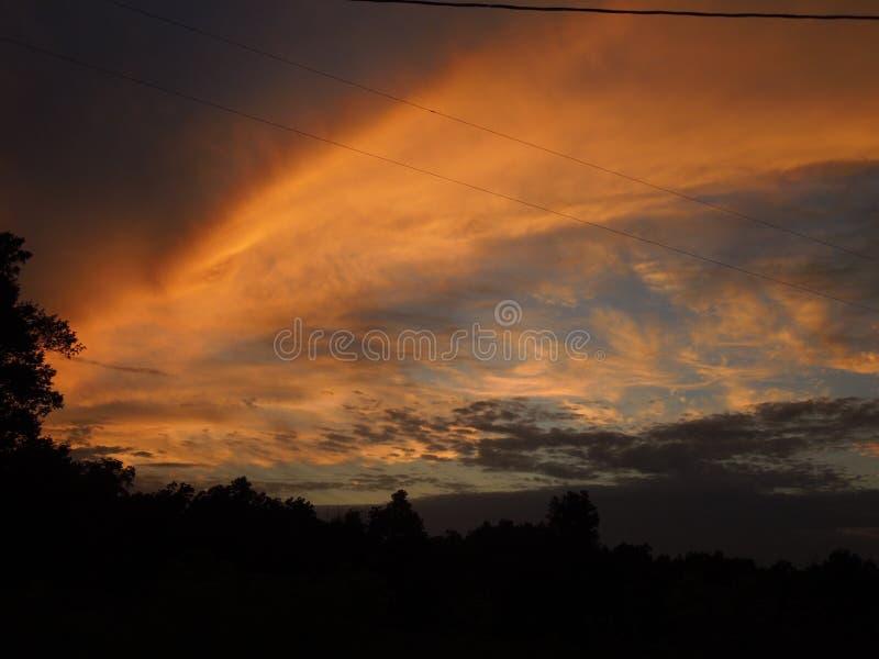 Sydlig Illinois solnedgång fotografering för bildbyråer