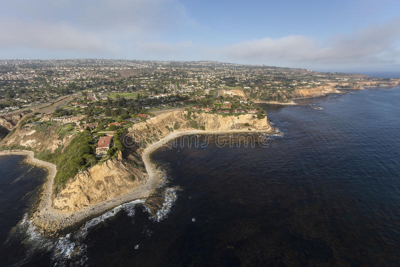Sydliga Kalifornien kust flyg- Rancho Palos Verdes royaltyfria bilder