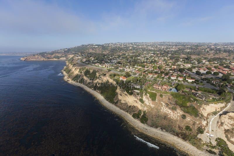 Sydliga Kalifornien kust flyg- Rancho Palos Verdes fotografering för bildbyråer