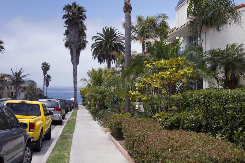 Sydliga Kalifornien strandhus arkivbild