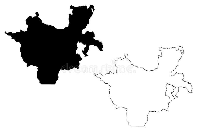 Sydliga nationer, nationaliteter och folks vektor för regionöversikt royaltyfri illustrationer