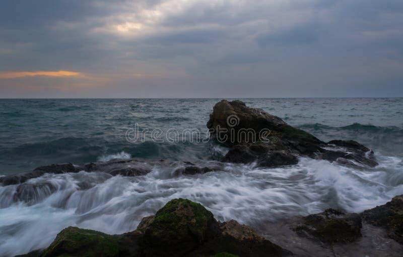 Sydliga vågor royaltyfri foto