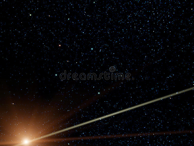 sydligt kometkonstellationkors vektor illustrationer