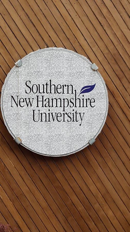 Sydligt New Hampshire universitet royaltyfri foto
