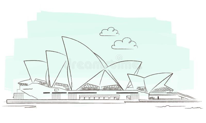 Sydney royalty-vrije illustratie