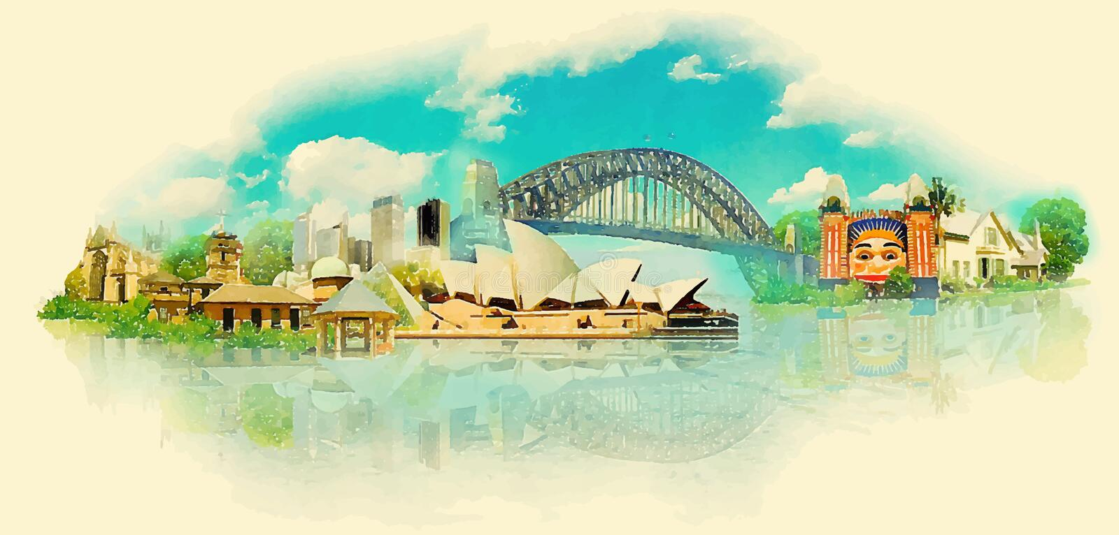 sydney illustration stock