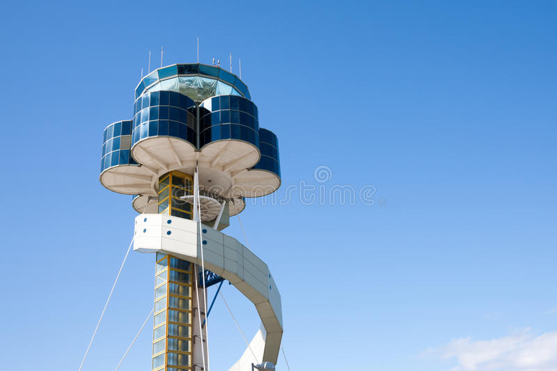 Sydney Airport air traffic control tower. Sydney, Australia - May 6, 2014: Sydney Airport air traffic control tower royalty free stock photo