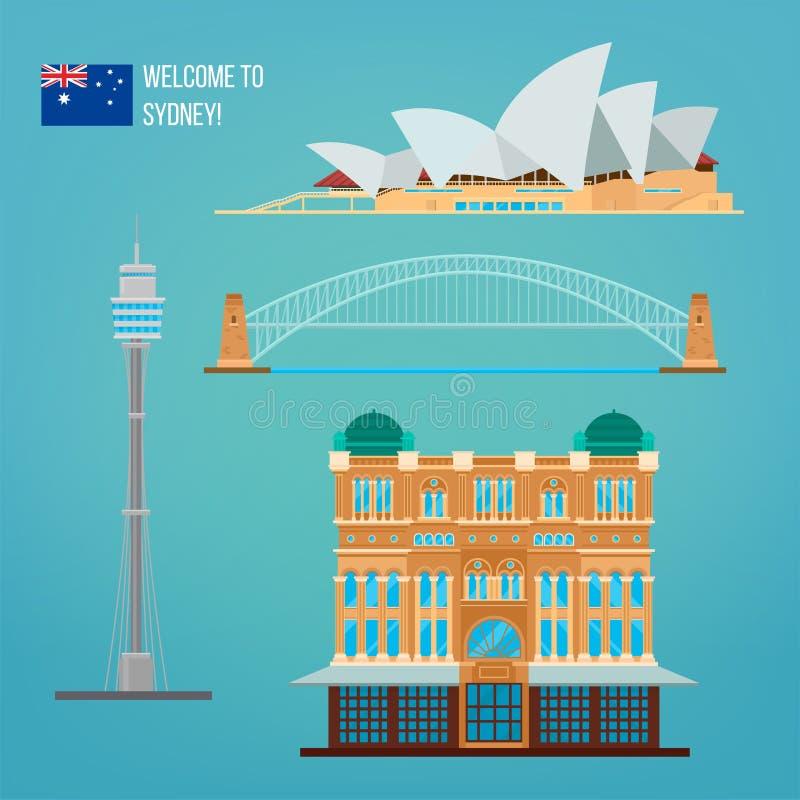 Sydney-Architektur Tourismus Australien vektor abbildung