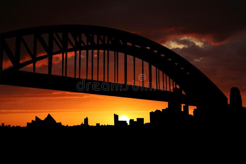 Sydney au coucher du soleil illustration stock