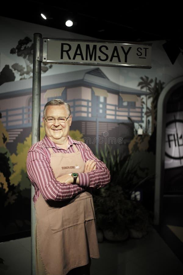 SYDNEY, AUSTRÁLIA - Sept 15, 2015 - um modelo em tamanho natural da cera de uma celebridade na senhora Tussauds Sydney fotografia de stock royalty free