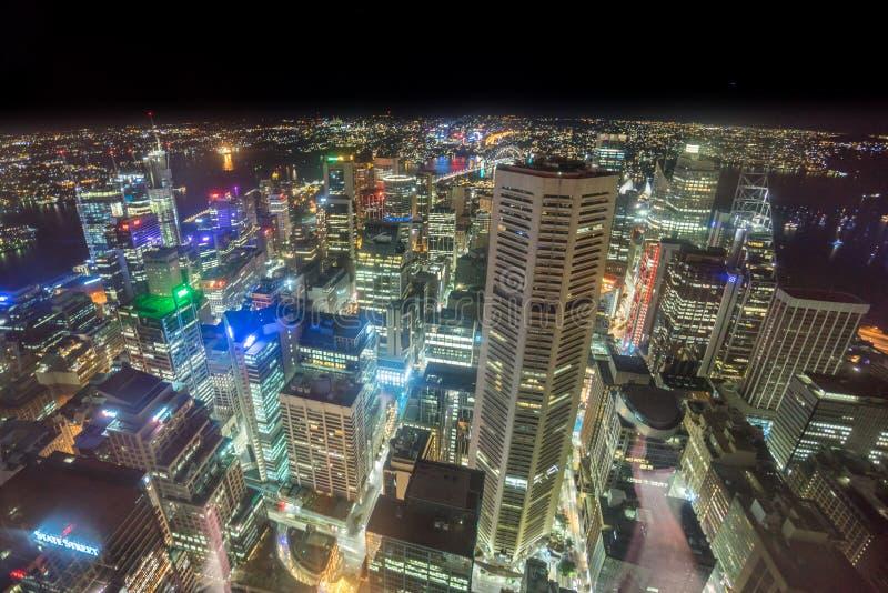 Sydney, Australië - December 30, 2015: Luchtmening van de Centra stock foto