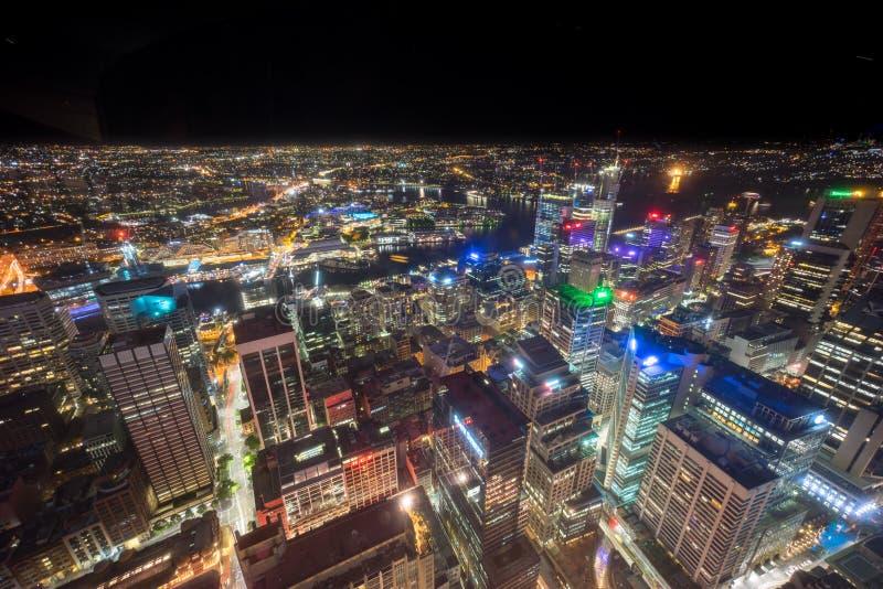 Sydney, Australië - December 30, 2015: Luchtmening van de Centra stock afbeeldingen