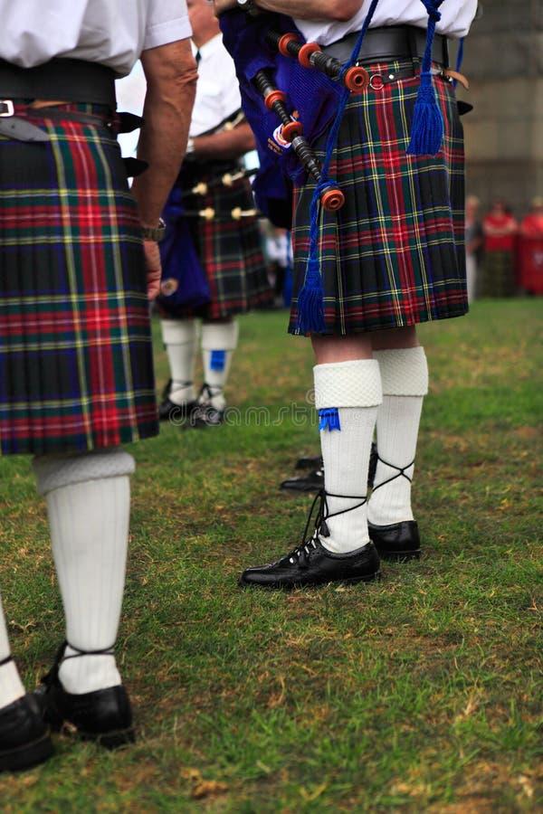 Sydney, Australië - Januari 26, 2013: De Schotse spelen van de Doedelzakband royalty-vrije stock afbeeldingen