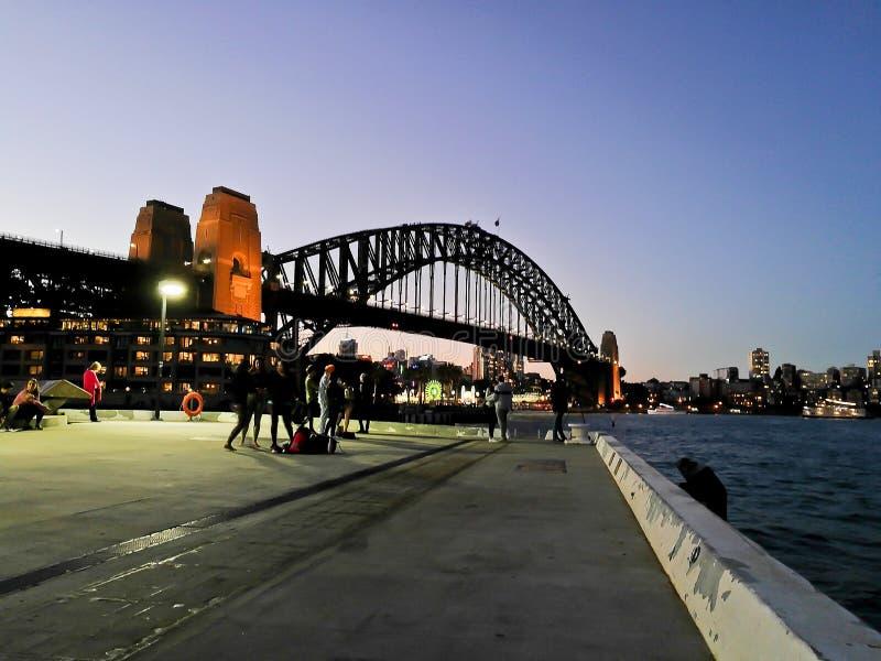 SYDNEY, AUSTRALIË - MEI 5, 2018: Sydney Harbour Bridge, wat is royalty-vrije stock foto