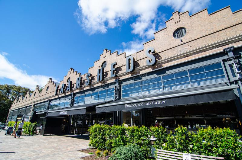 Tramsheds is Sydney's most exciting food destination, housed in the former historic Rozelle Tram Depot. SYDNEY, AUSTRALIA. – On December 5, 2017 royalty free stock photography