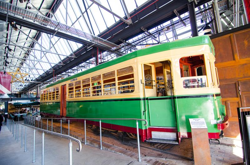 The bendigo tram No.1995 was in service from the Rozelle Tram Depot from November 1951 until the depot`s closure in 1958. SYDNEY, AUSTRALIA. – On royalty free stock photography