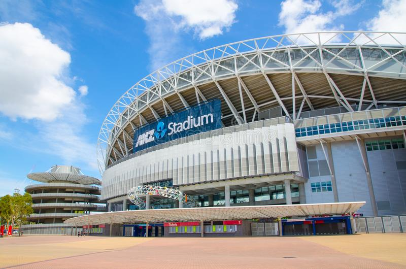 Stadium Australia, commercially known as ANZ Stadium located in the Sydney Olympic Park. SYDNEY, AUSTRALIA. – On November 19, 2017. - Stadium Australia royalty free stock images