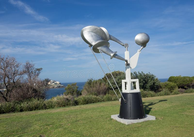 `Federation` is a sculptural artwork by Geoffrey Bartlett at the Sculpture by the Sea annual events free to the public at Bondi. SYDNEY, AUSTRALIA. – On royalty free stock photo