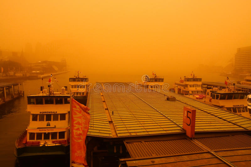 Sydney, Australia, Covered By Extreme Dust Storm. Editorial Photography