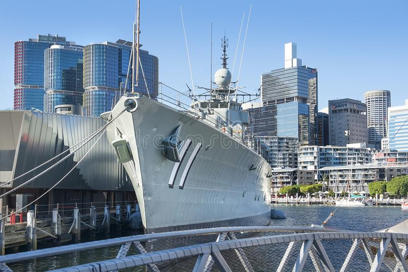 Destroyer HMAS Vampire, National Maritime Museum, Sydney, Australia. Sydney, Australia - March 11, 2018: destroyer HMAS Vampire, Australian National Maritime stock images