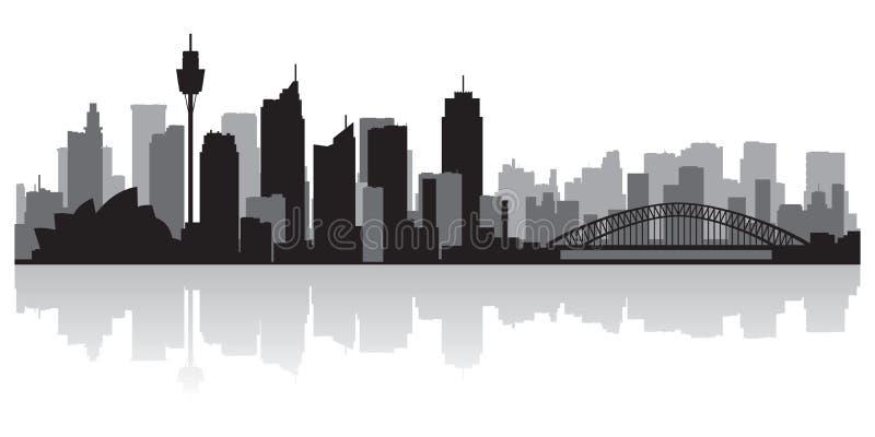 Sydney Australia miasta linii horyzontu wektoru sylwetka ilustracji