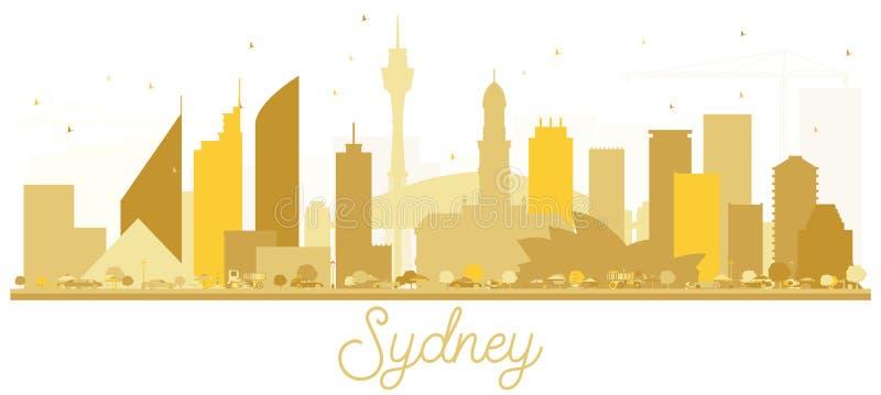 Sydney Australia miasta linii horyzontu złota sylwetka ilustracji