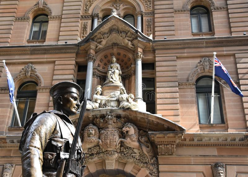 Sailor statue with the General Post Office in the background royalty free stock images