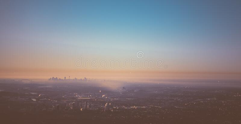Sydney, Australia skyline at sunset stock photography