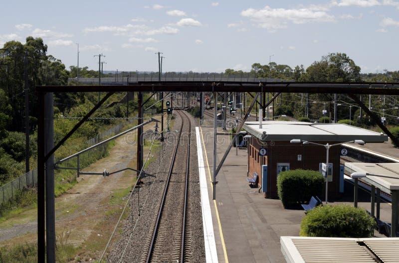Sydney, australia stacji pociągu obraz royalty free