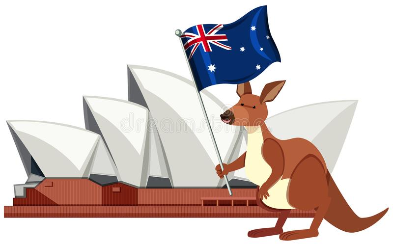 Sydney Australia Travel Landmark Element stock illustrationer