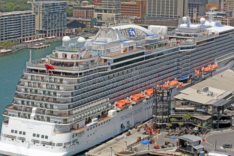 SYDNEY, AUSTRALIA - vista di Quay circolare, terminale di traghetto fotografie stock libere da diritti