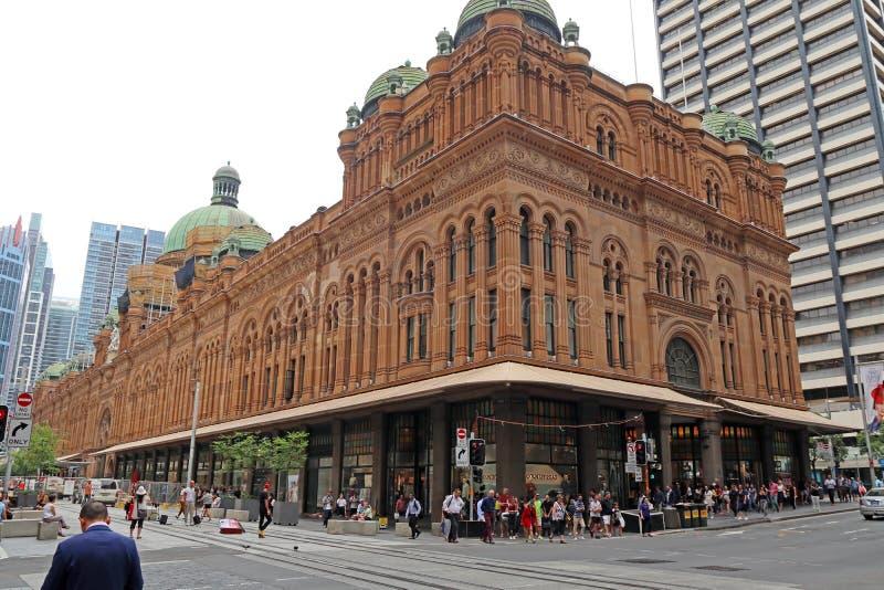 SYDNEY, AUSTRALIA VQB - centrum handlowe królowej Wiktoria budynek - zdjęcie stock