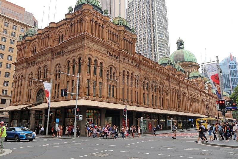 SYDNEY, AUSTRALIA VQB - centrum handlowe królowej Wiktoria budynek - zdjęcie royalty free