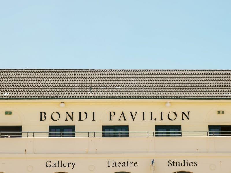 SYDNEY, AUSTRALIEN - 31. JANUAR 2016: nahe ehrliche Ansicht des pavillion an bondi Strand, Sydney stockbild