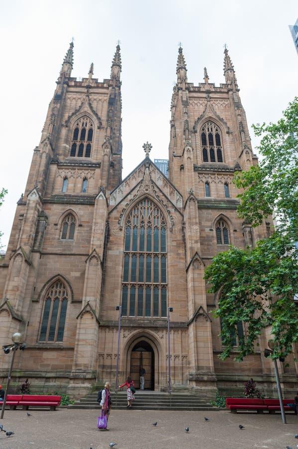 SYDNEY, AUSTRLIA - 11 DE NOVEMBRO DE 2014: A catedral de St Andrew, Sydney, Austrália fotos de stock royalty free