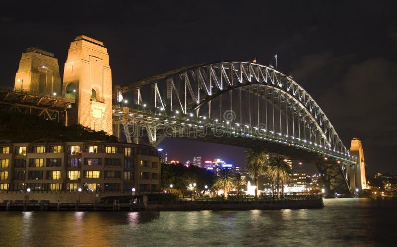 Sydney-Brücken-Nacht lizenzfreies stockfoto