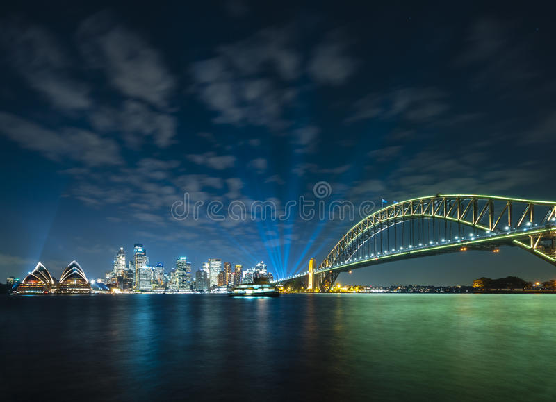 Sydney CBD and Harbour Bridge stock image