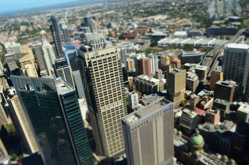 Sydney CBD miniatury widok od nieba zdjęcie royalty free