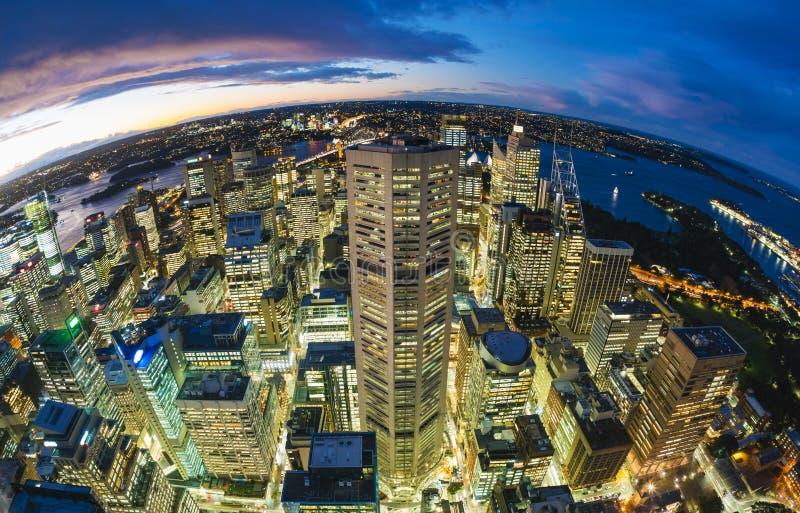 Sydney CBD from at night stock photography
