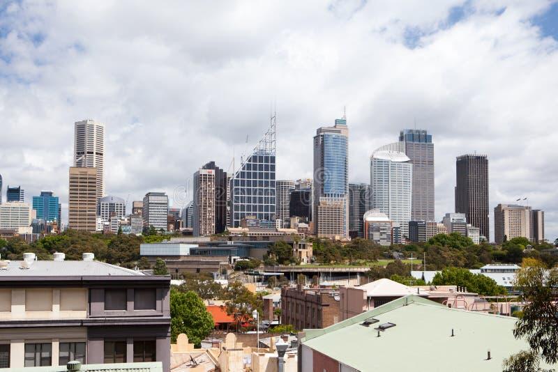 Sydney CBD van Koningenkruis stock afbeeldingen