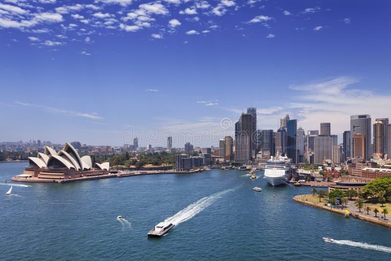 Sydney CBD vom Brücken-Tag lizenzfreie stockfotografie