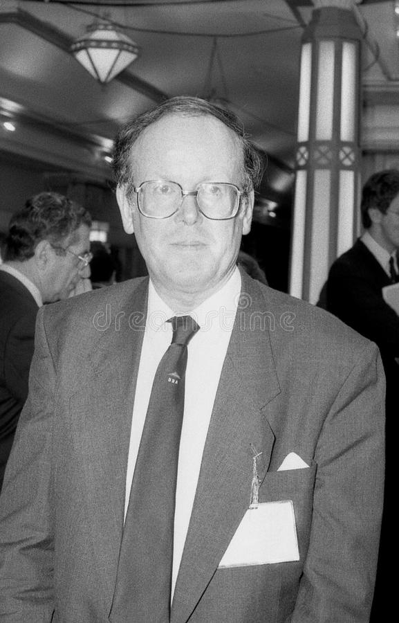 Sydney Chapman. Conservative party Member of Parliament for Chipping Barnet, visits the party conference on October 10, 1989 in Blackpool, England stock photography