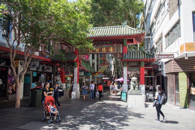 Sydney Chinatown obrazy royalty free