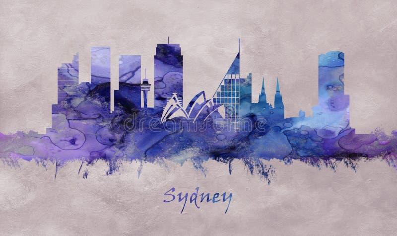 Sydney City in Australië, horizon royalty-vrije illustratie